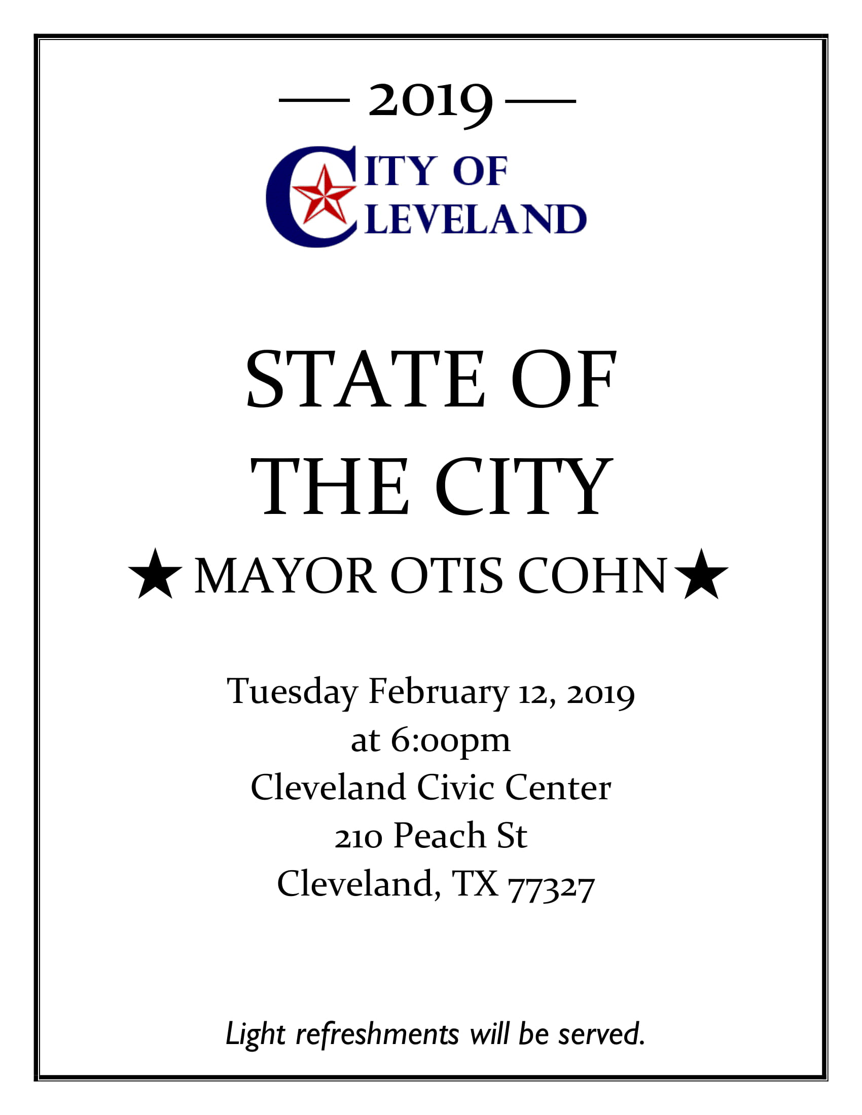 State of the City 02-12-19