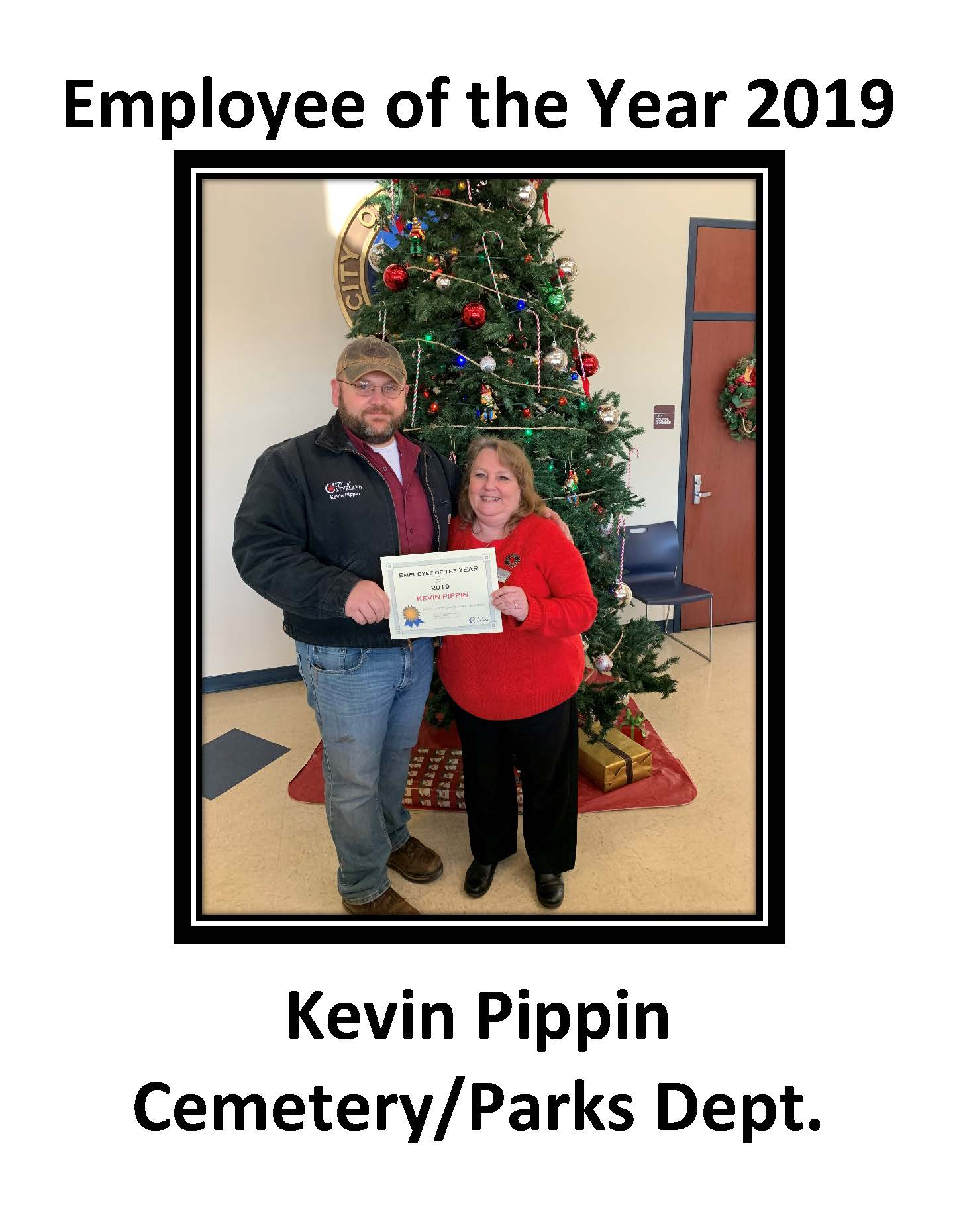 2019 Kevin Pippin Employee of the year