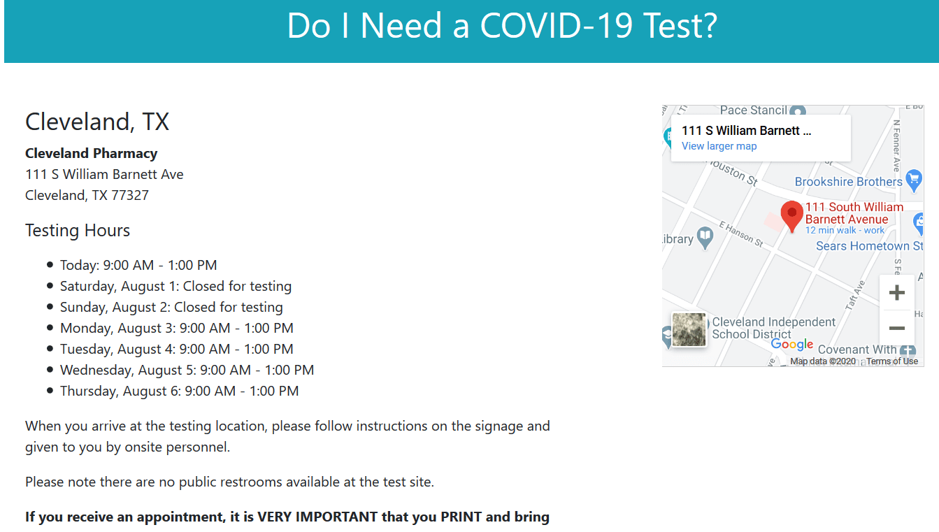 Do I Need a COVID-19 Test  August 2020