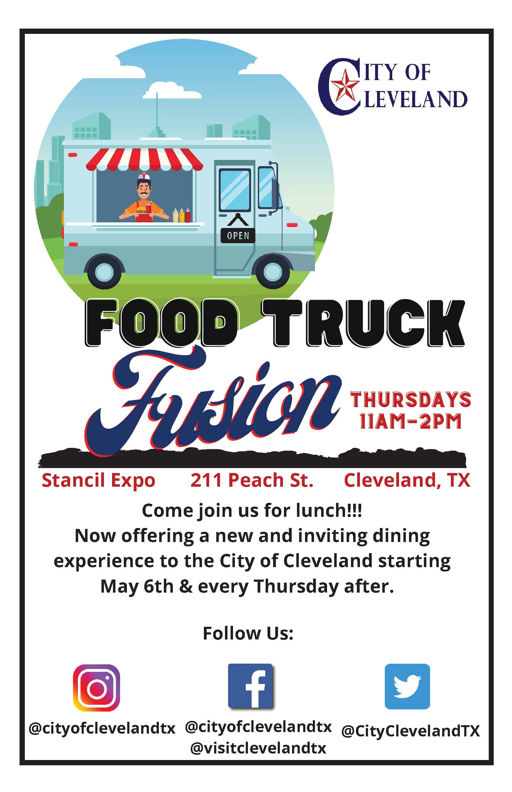 Food Truck Fusion flyer