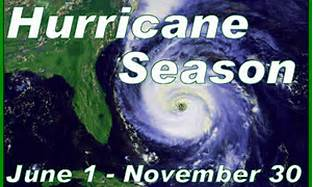Hurricane Season June 1 - November 30