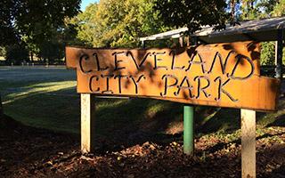 Cleveland City Park sign