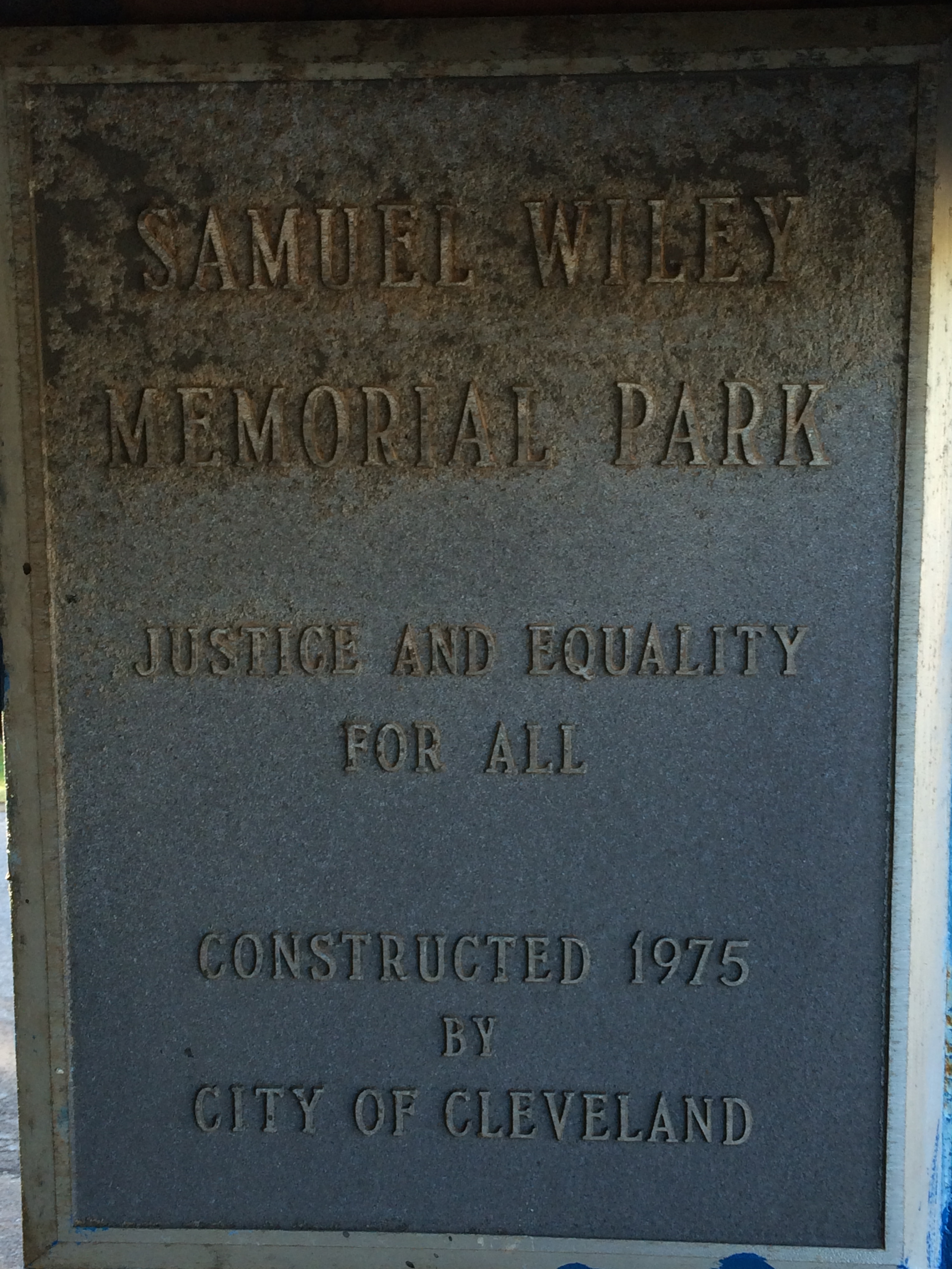 Samuel Wiley Plaque