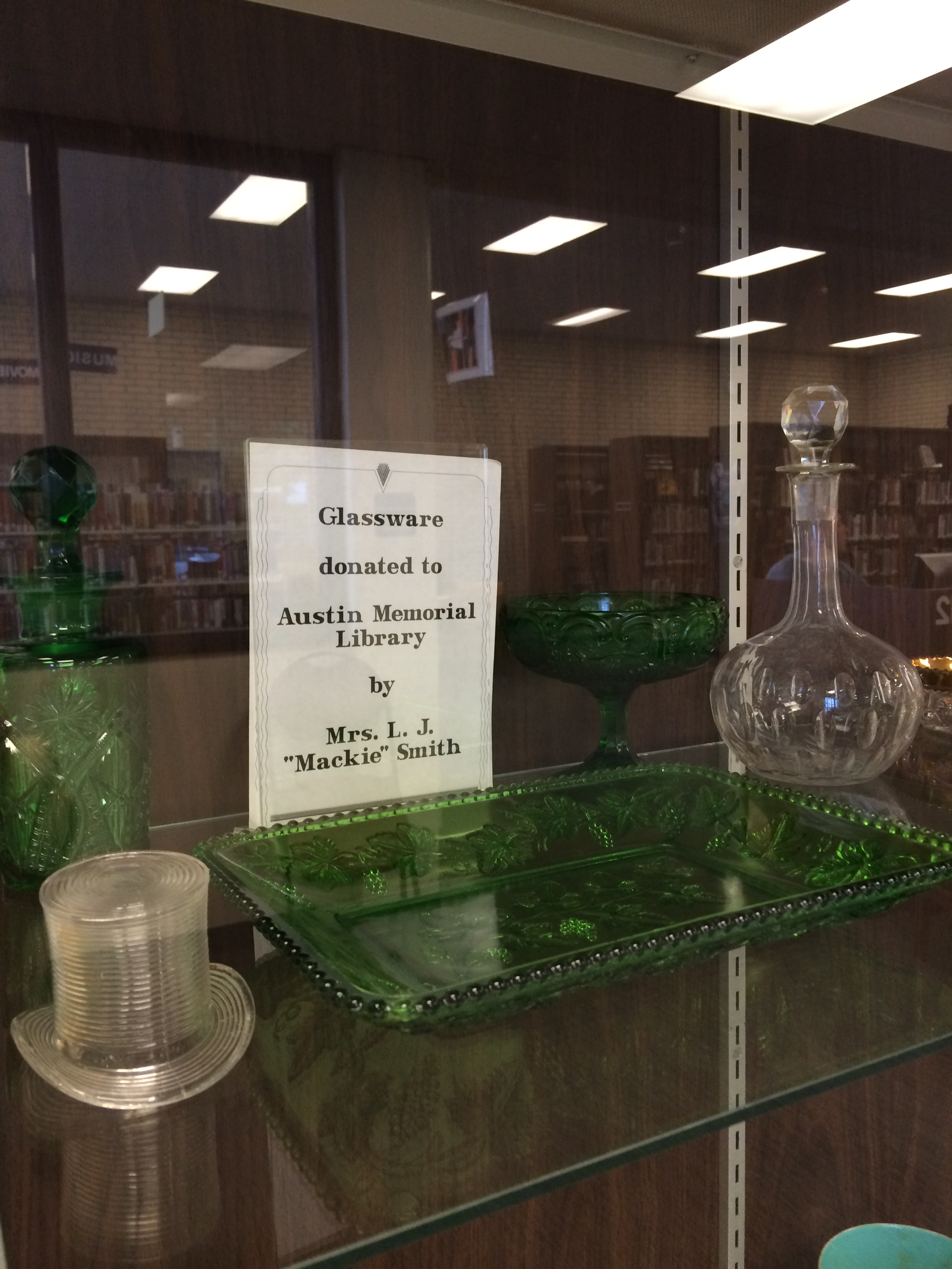 Glassware on Display
